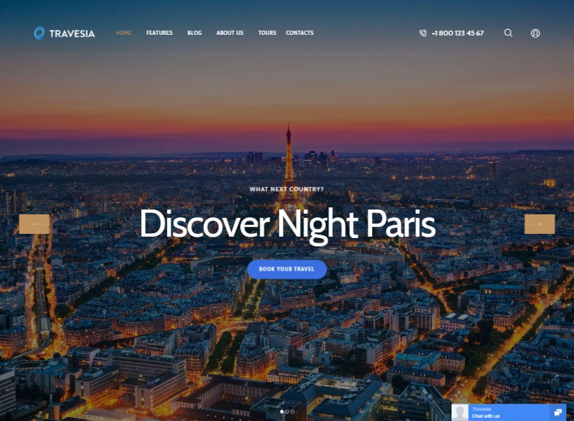 Travesia - best tour and travel website templates