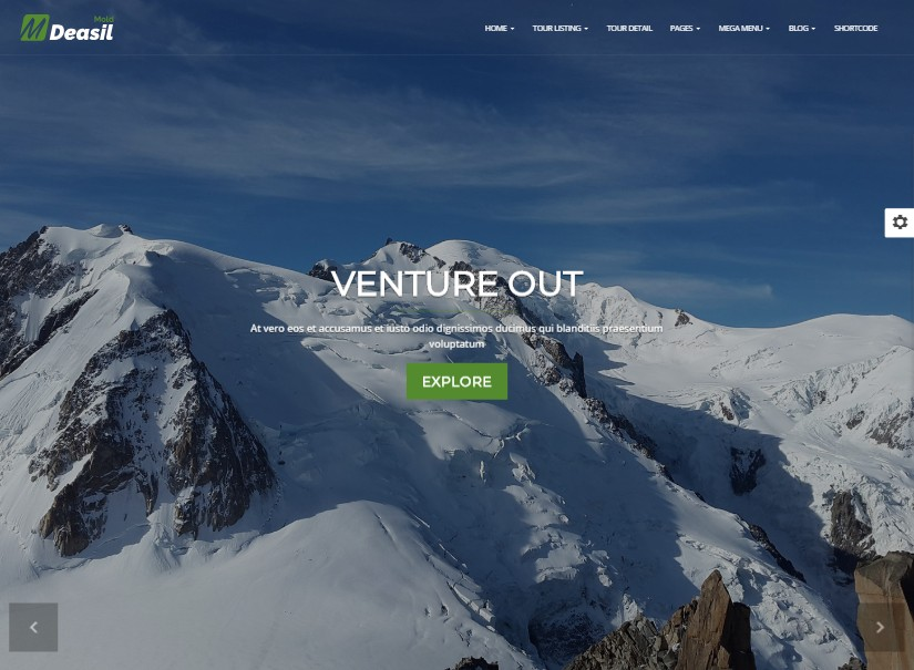 Deasil - tour and travel website templates