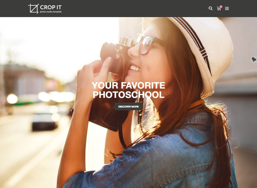 CropIt - top photography website templates