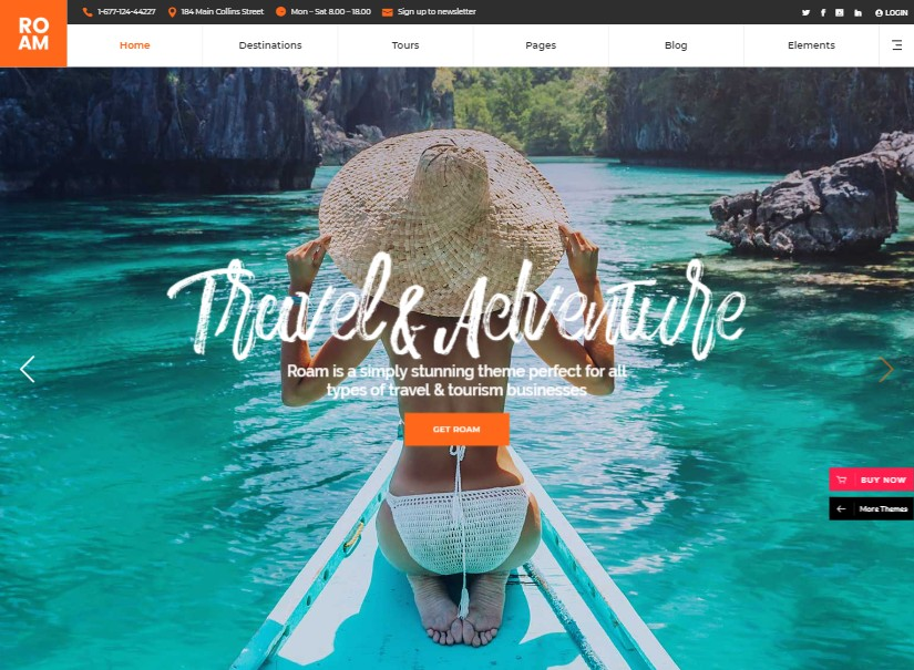 Roam - best tour and travel website design
