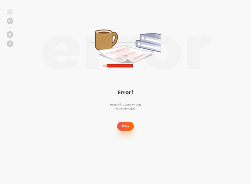 Wrong Error Page - html templates bootstrap