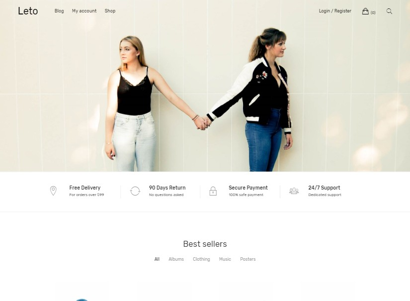 Leto - free wordpress themes
