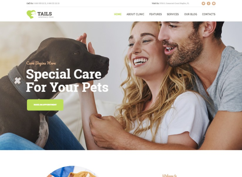 Tails - best animal website templates