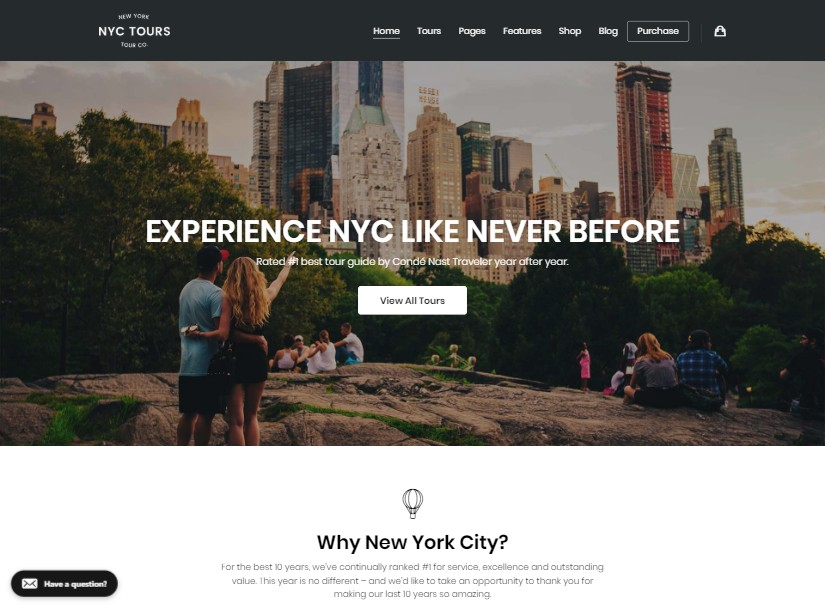 Embark - tour and travel website templates