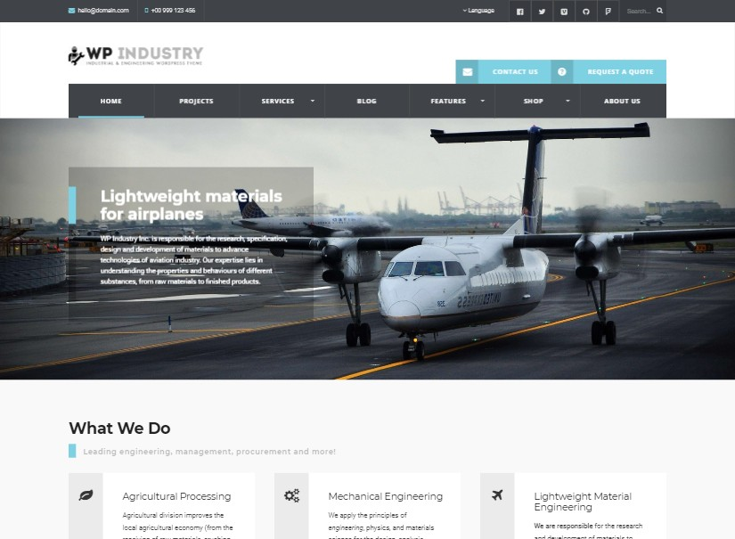 Industrial - best industrial website design