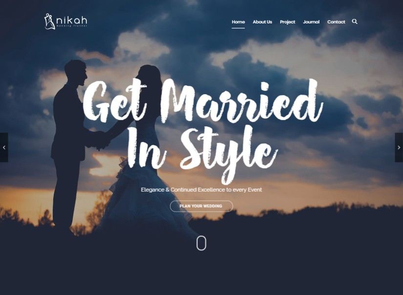 Nikah - best wedding website templates