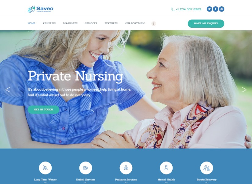 Saveo - best hospital website template