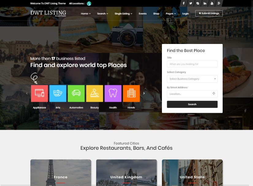DWT - Best Directory Listing Website Template