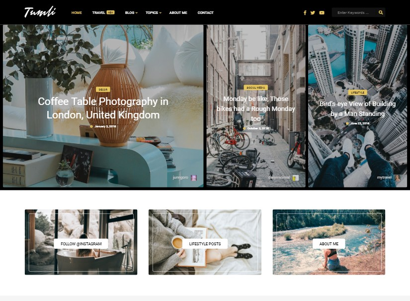 Tumli - Latest Wordpress Blogs theme