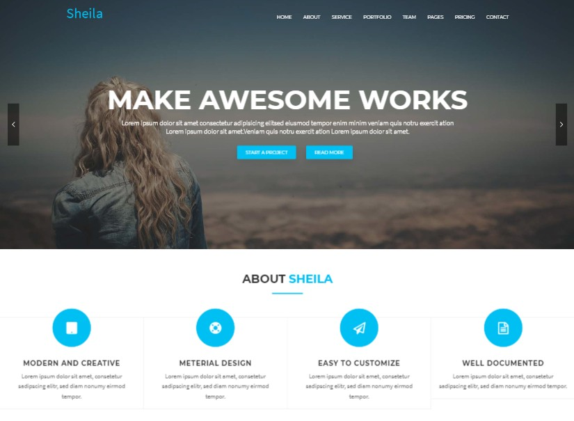 Sheila - best materialize templates