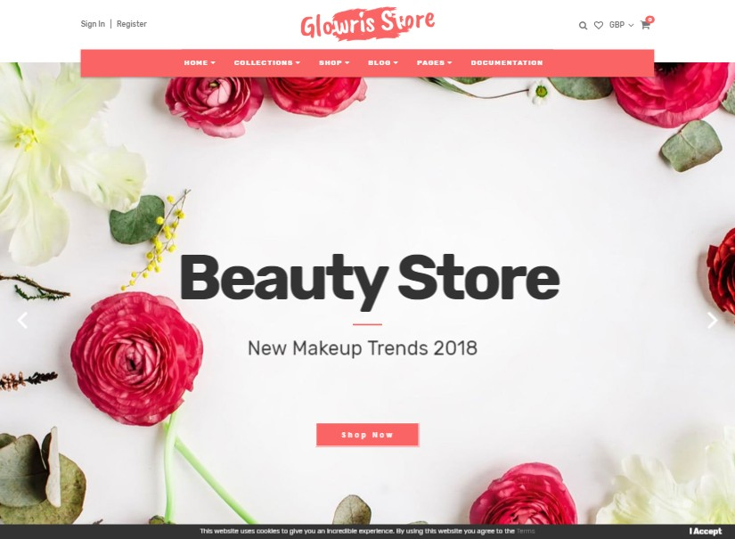 GLOWRIS - best beauty website templates