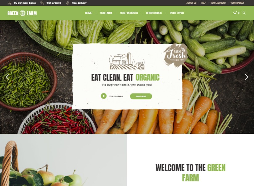 Green Farm - agriculture website theme