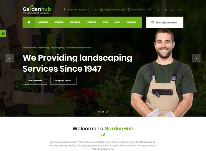 Garden HUB - best agriculture website template