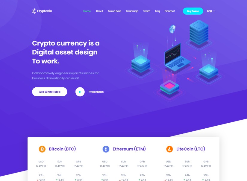 Cryptonio - best technology website templates