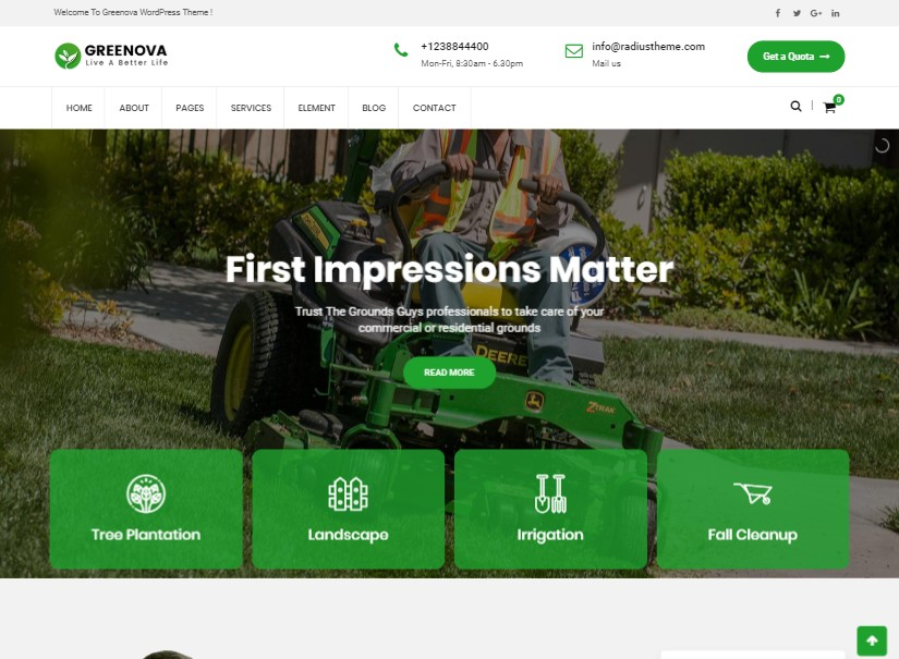 Greenova - best agriculture website template