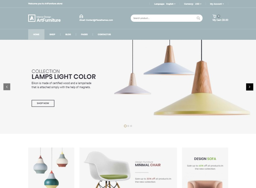 Artfurniture - latest ecommerce template design