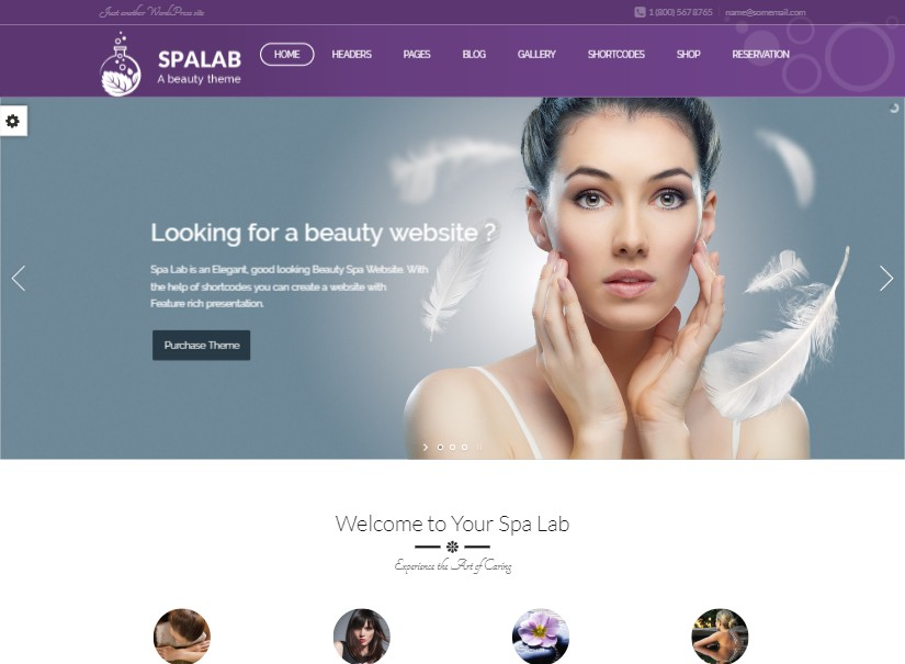 Spa Lab - top beauty website templates