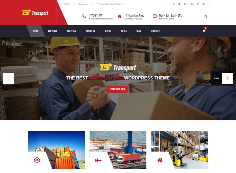 Transport - best transport website templates