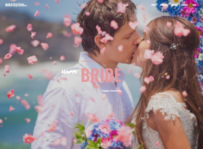 Kirsten - best wedding website templates