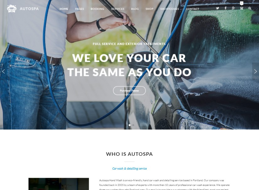 Auto Spa - best transport website templates