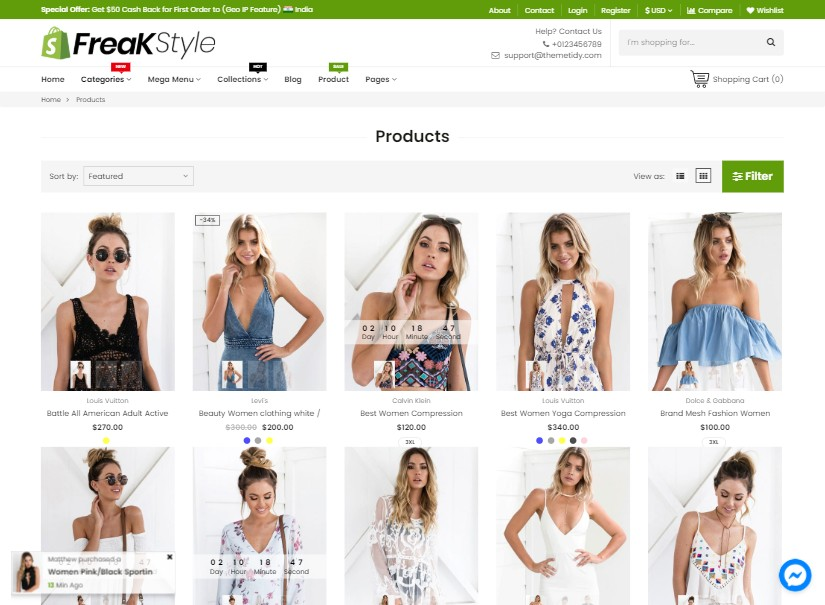 Freak - latest ecommerce templates