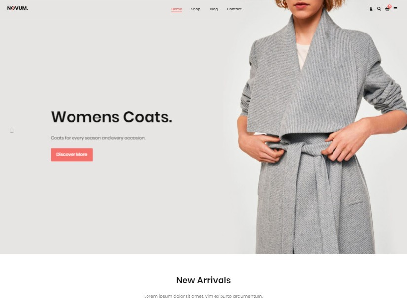 Novum - best ecommerce templates