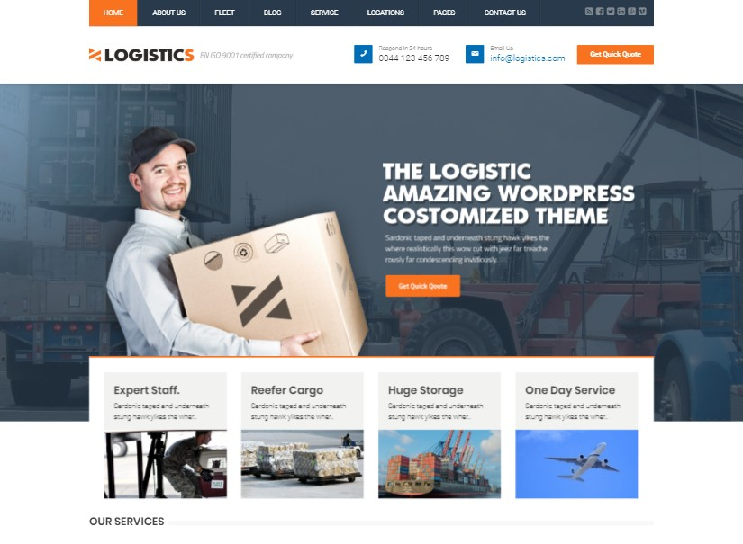 Logistics - transport website templates