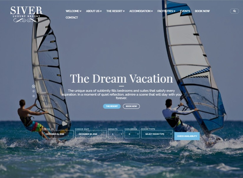 Siver - hotel website templates