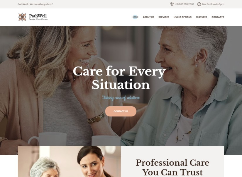 PathWell - top hospital website template