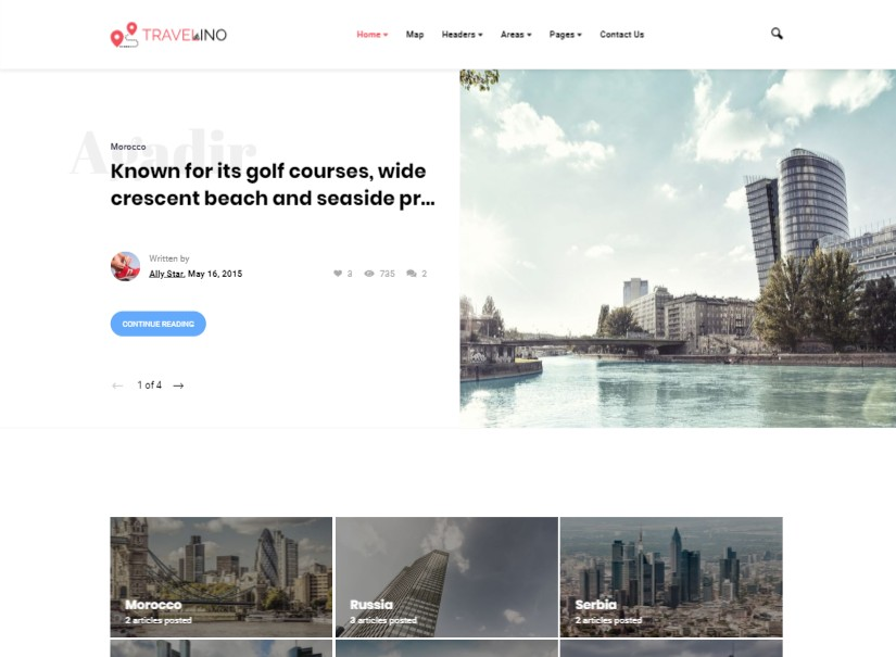 Travelino - Latest Wordpress Theme