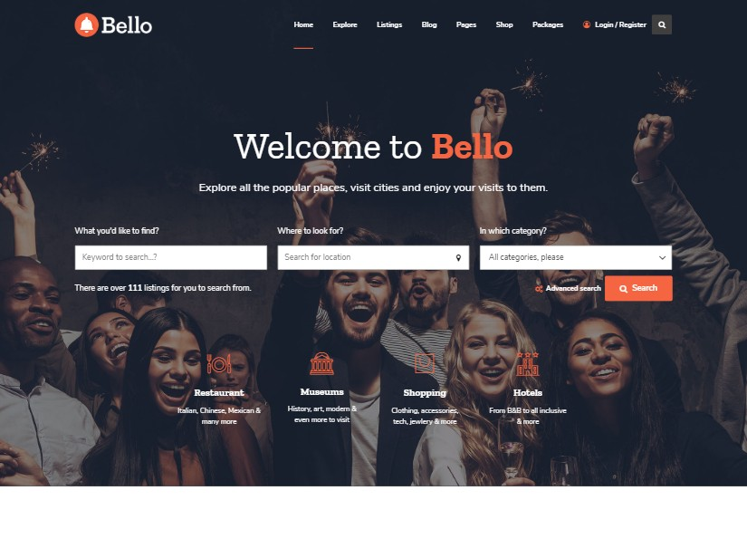 Bello - Directory Latest Wordpress Theme