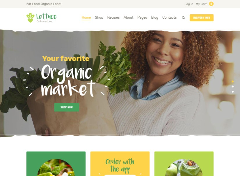 Lettuce - agriculture website template
