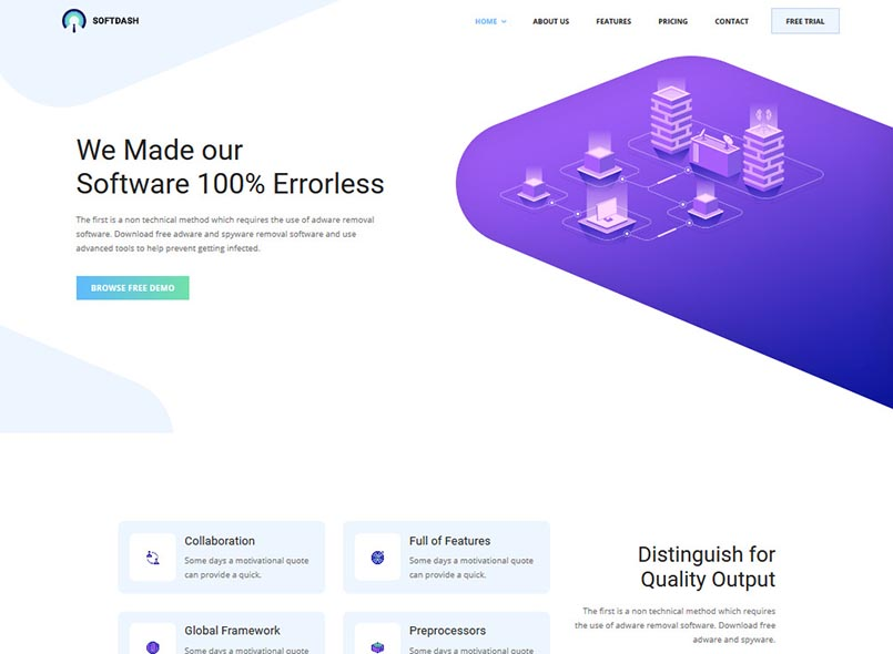 Softdash - Creative SaaS and Software Joomla Template with Page Builder