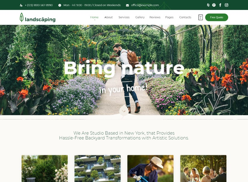 Landscaping - agriculture website template
