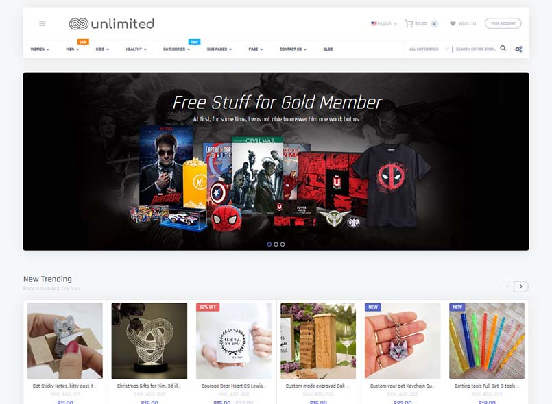 Infinit - Multipurpose Responsive Magento 2 and 1 Theme