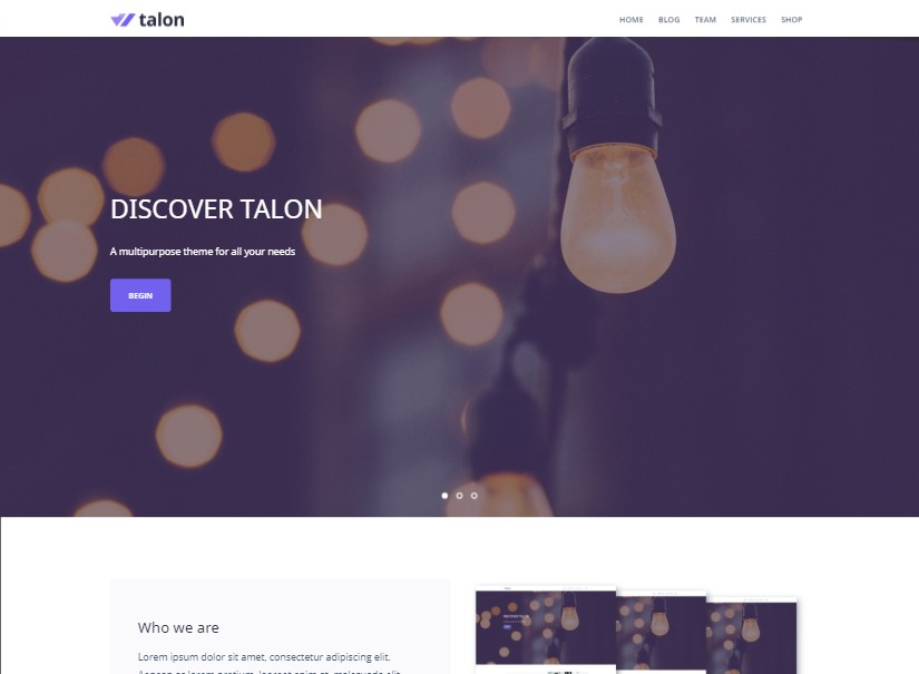 Talon - free website templates