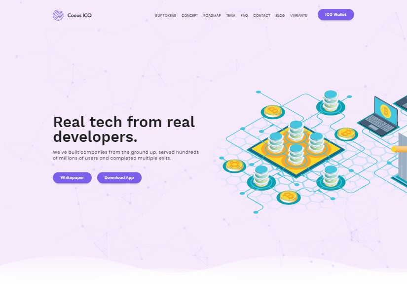 Coeus - best technology website templates