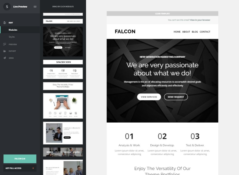 Falcon - best emailer template