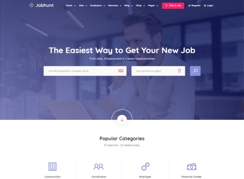 Jobhunt - Best Directory Listing Website Template