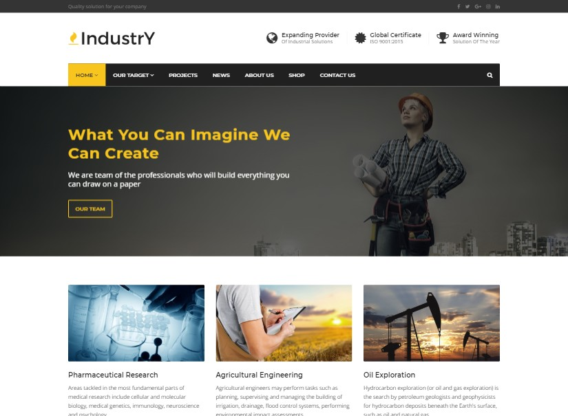 Industry - best industrial website design