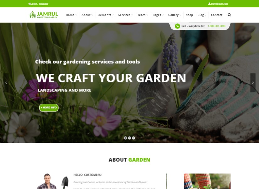 Jamrul - latest agriculture website template