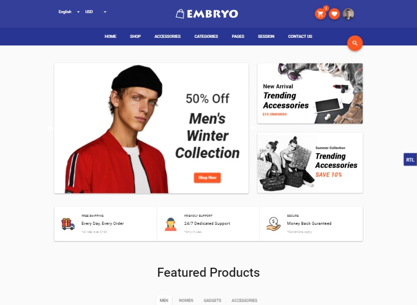 Embryo  - best angular material design