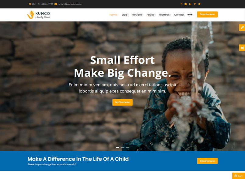 Kunco - Charity, Crowdfunding & Fund Raising Drupal 8.8 Theme