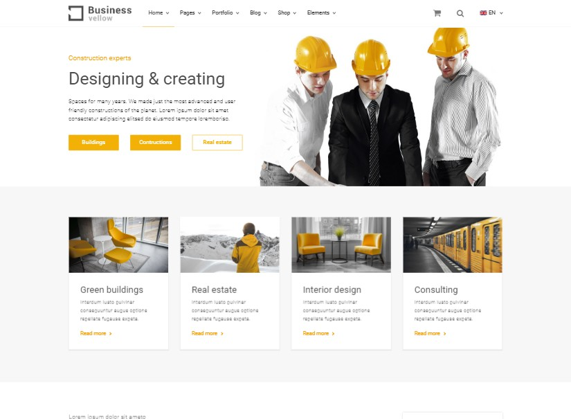 Yellow - best industrial website template