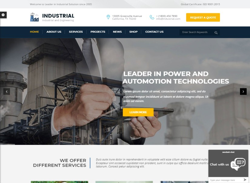 Engineering - latest industrial website template