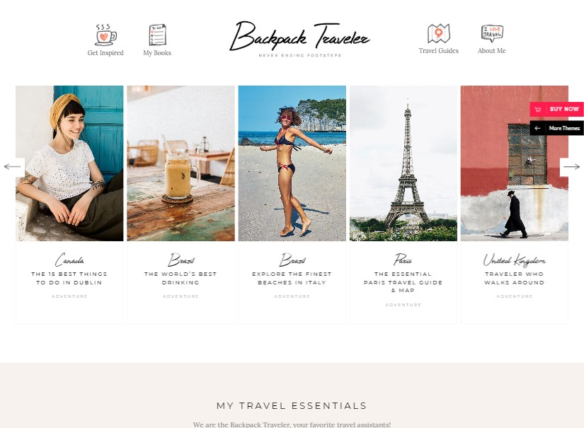 Backpack Traveler -  latest blog themes