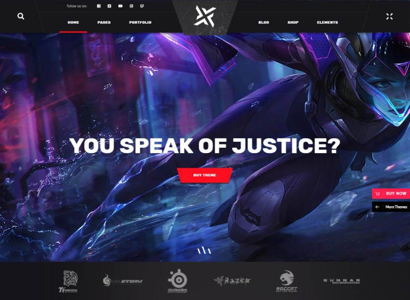 PlayerX - best entertainment website template