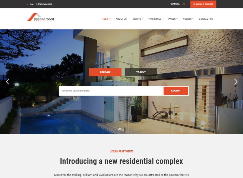 Hasara - Real Estate Website Design