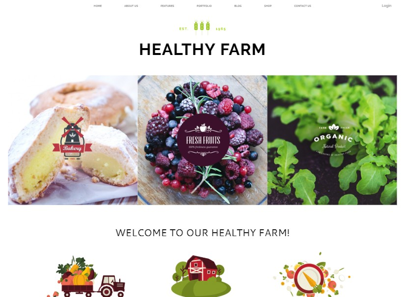 Healthy - top agriculture website template