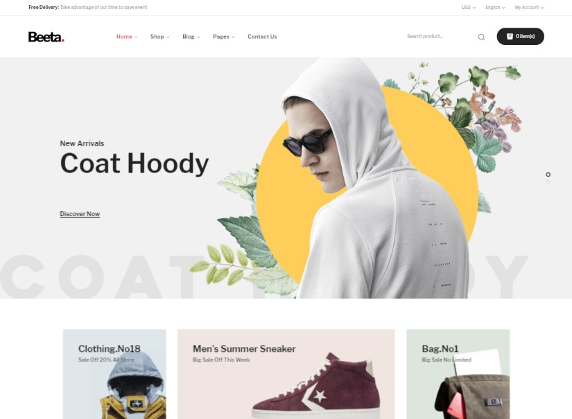 Beeta - latest ecommerce templates